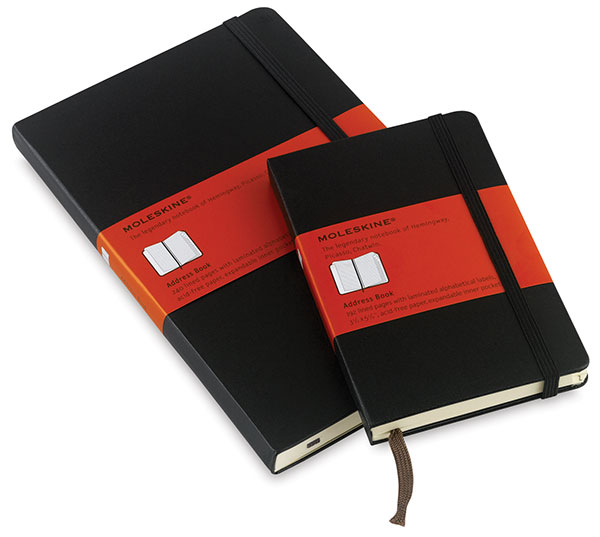 Moleskin Sketchbook - $15   As long as we're talking writing instruments, how about something to write in? The moleskin sketchbook is a handy size, it stays closed and is a pleasure to write on.