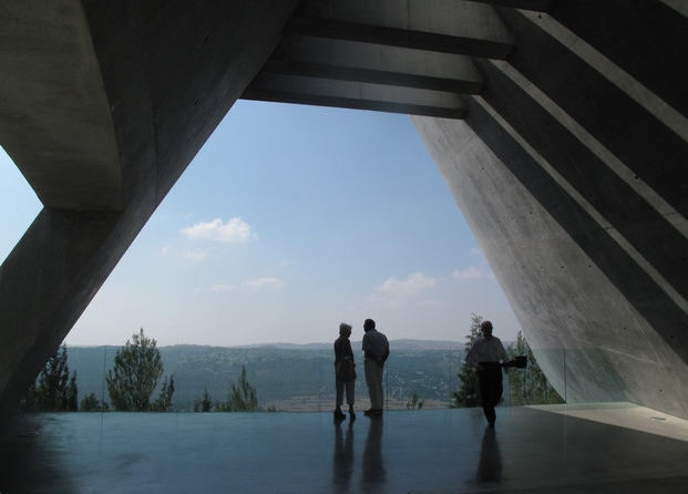 Yad Vashem Holocaust Memorial Museum, Safdie Architects: view out to Jerusalem's Old City