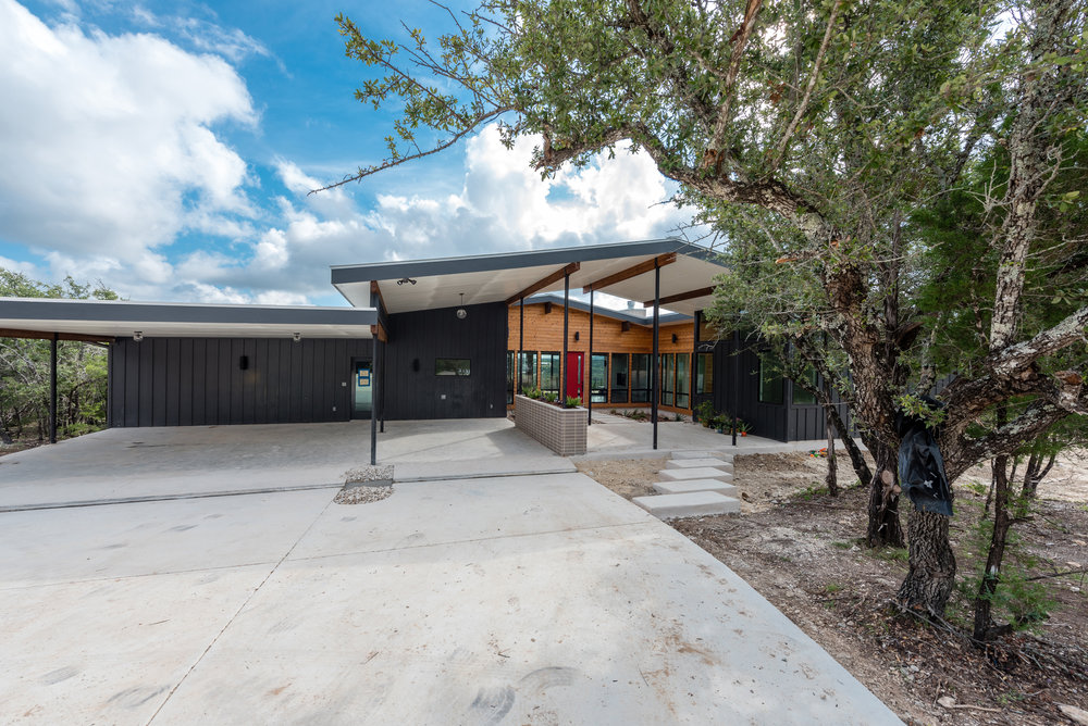 our latest project mid century modern in the hill country
