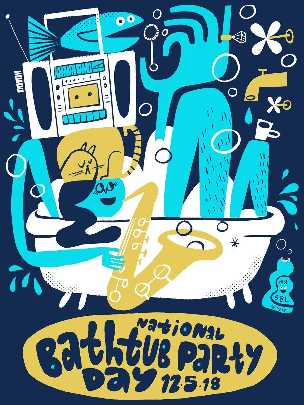 National Bathtub Party Day
