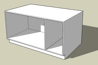 A frameless cabinet.