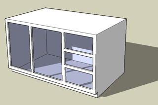 A face frame cabinet.