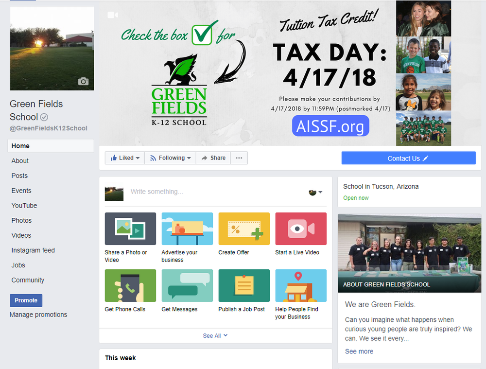 Curious about what's happening at Green Fields right now? - We update our Facebook page regularly with activities, events and pictures each week.