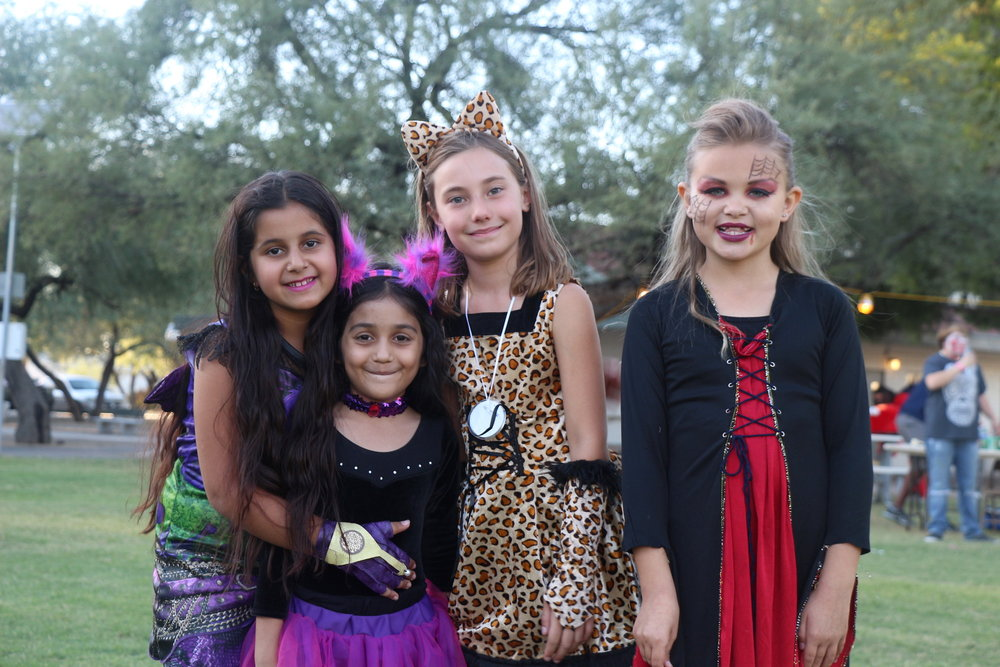 Fall Festival - The Student Council hosts this Halloween even on the quad in front of the library. All K-12 classes prepare a booth with games and activities, there's food, costumes, music and fun!