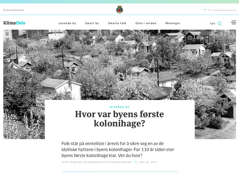 Oslos første kolonihage