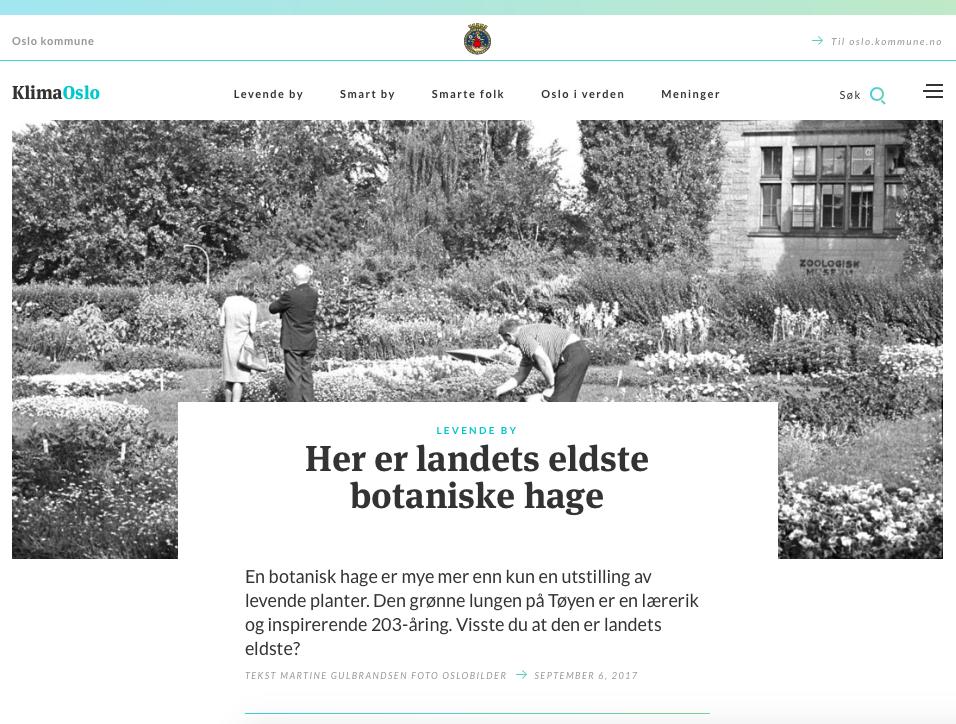 Norges eldste botaniske hage.