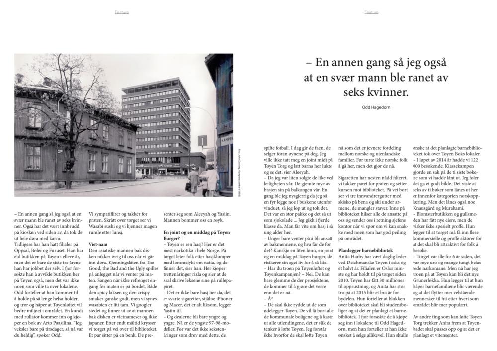 En featurereportasje fra Tøyen Torg