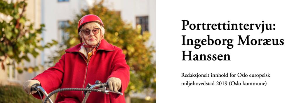 Ingeborg Moræus Hanssen, Oslo europeisk miljøhovedstad.png