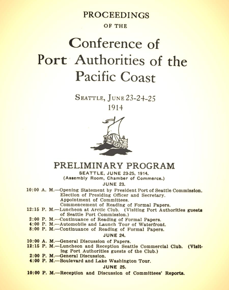 The program from APP's first conference in 1914.