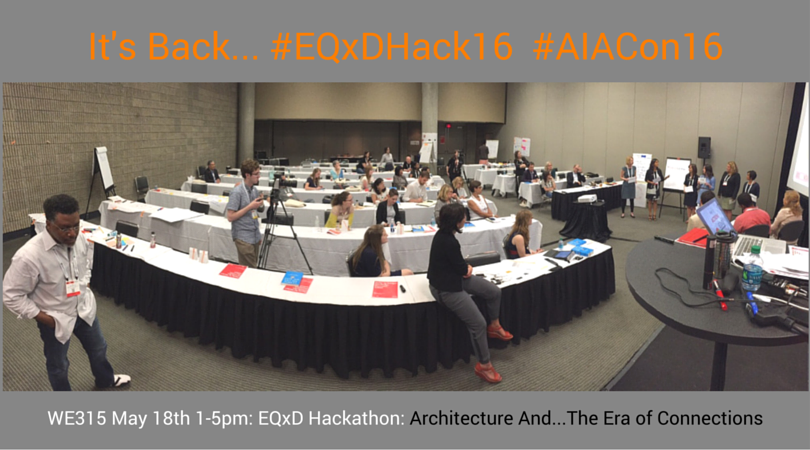 REGISTER FOR EQxD HAPPY HOUR ONLY   Special Thanks goes to our EQxD Hackathon Scholarship Sponsors including Autodesk, McCarthy Building Companies, WRNS Studio, HOK and HGA.