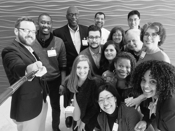 AIA Diversity & Inclusion Council 2016 - R to L (Front to back) - Marcia Calloway,Rosa T. Sheng, AIA,Jeff Ostrander, Renee Kemp-Rotan, AIA, Linsey Graff, Associate AIA, Lisa Chronister, AIA, Greg Burke, AIA, Lori Garrett, AIA, Tania Salgado, AIA, Brent Castro, Associate AIA, Bryan C. Lee Jr. Associate AIA, Yu Ngok Lo, AIA, Bill Bates, FAIA, and Damon Leverett, AIA.