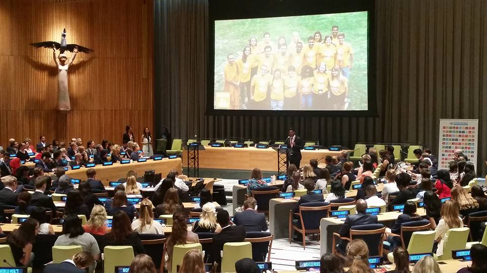 Ubuntu presenting the SDG 11 Project at the United Nations - Photo courtesy of Alexander Lori
