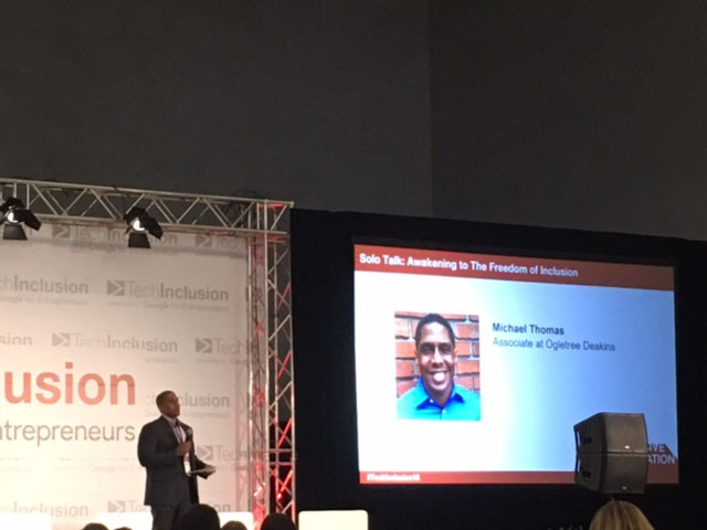 "Speaking at Tech Inclusion 2.0 on ""Diversity, Inclusion and Intergenerational Trauma."""