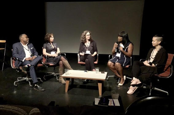 Voices Panel - Kevin Holland, Diana Jacobs, Julia V. Mandell, Tiffany Brown, and A.L. Hu. Photo credit by Wanda Lau