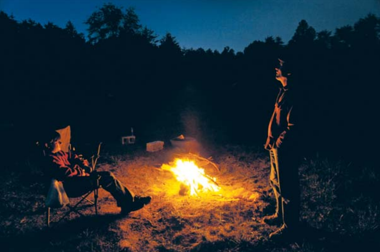 Shaun Klebold and his 16-year-old son, Collin, camped overnight for the two-day Appleseed Project shoot, their first. They recently moved to Winchester, Va. Photo by Michael S. Williamson (The Washington Post)