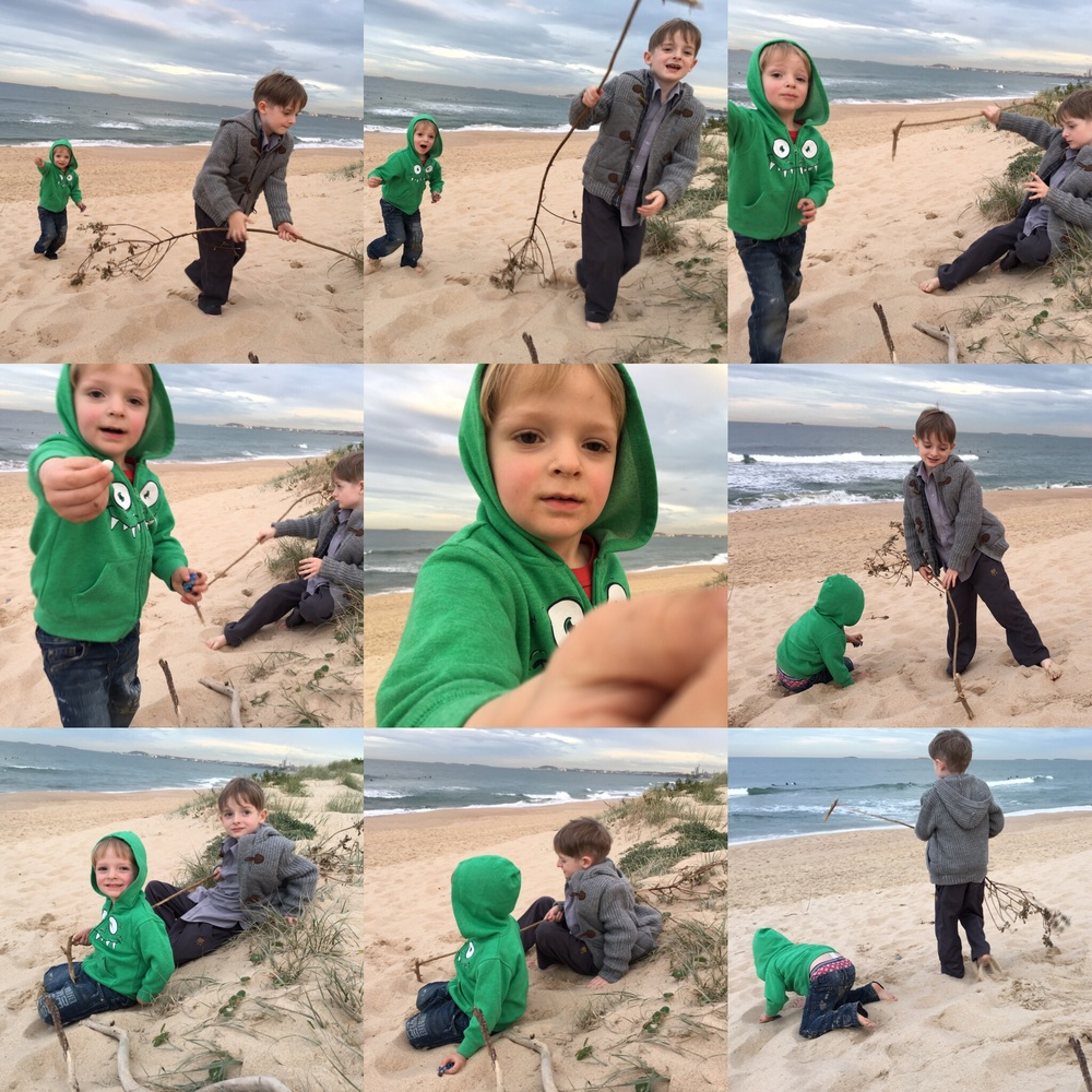 Just one minute of activity captured on Wollongong Beach - they never stop!