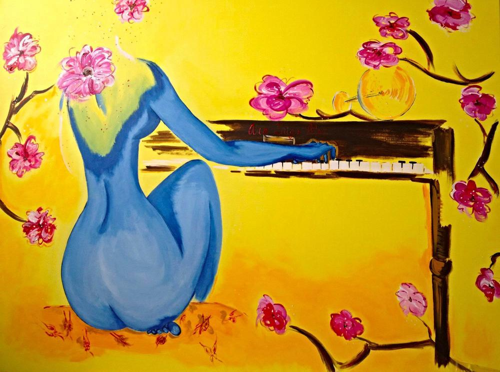 A dream... the piano. 2012. London 100x120x3cm. Mixed media