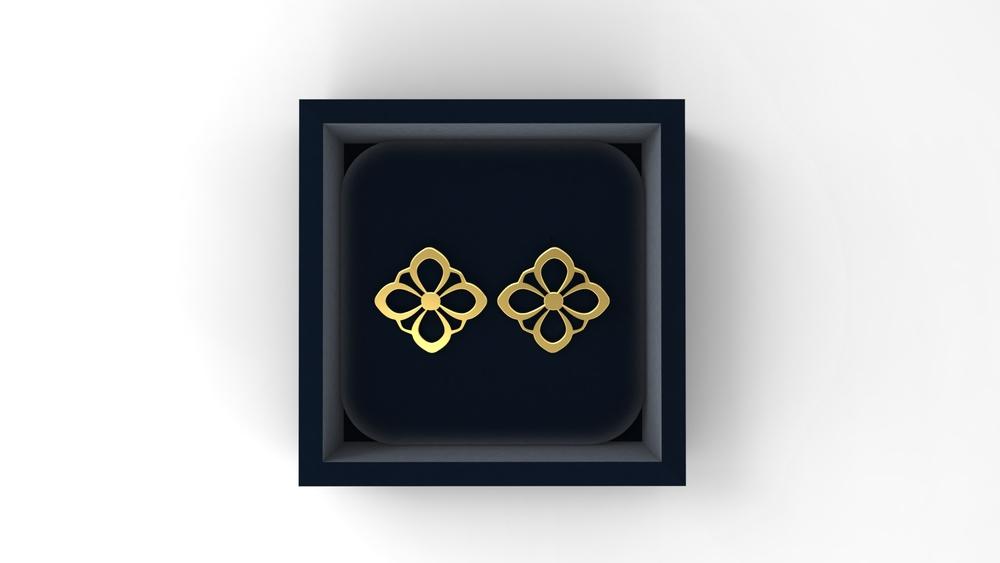 DH2 earrings, rose gold, 2014