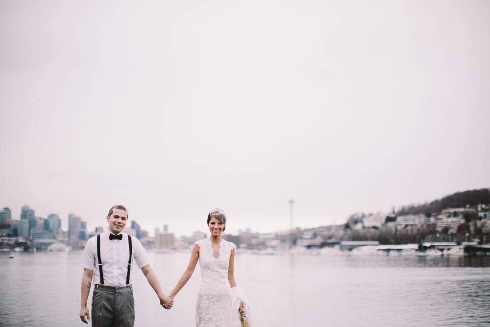 Rita and Jacob prepare for their wedding on the shore of beautiful Lake Union - Sahara Coleman - Professional Wedding Photographer, 2014 Seattle Washington