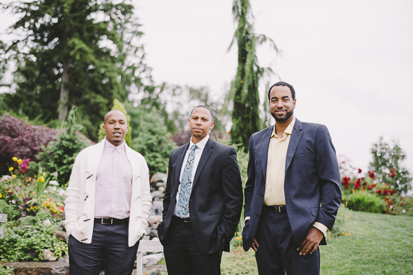 Three men stand in a park - Sahara Coleman - Professional Wedding Photographer, Destination Photographer 2014 Seattle Washington