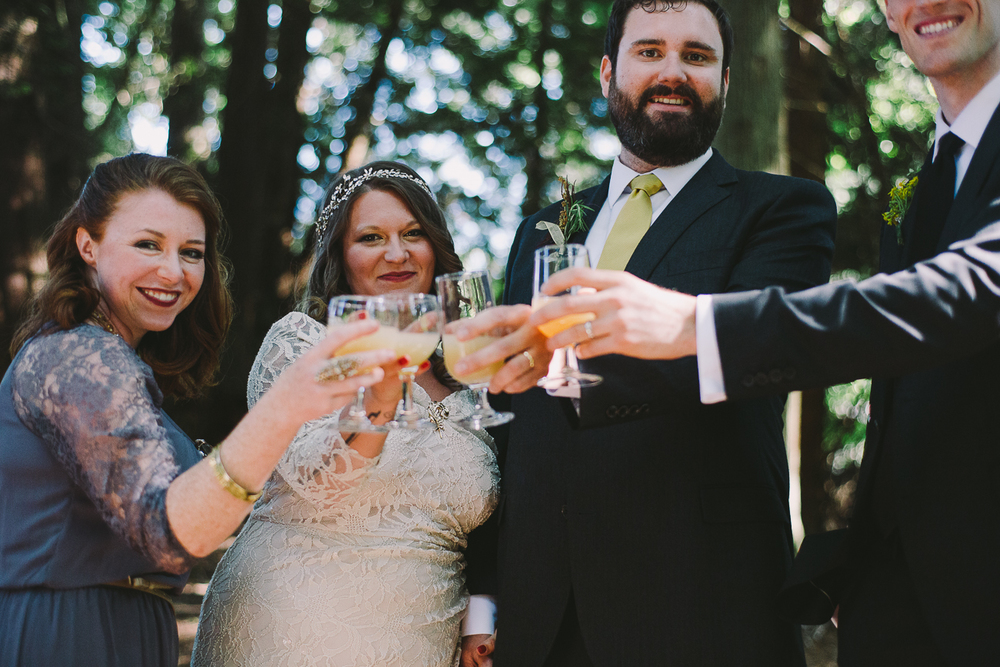 Sharing a toast after the ceremony - Sahara Coleman - Professional Wedding Photographer, 2014 Seattle Washington
