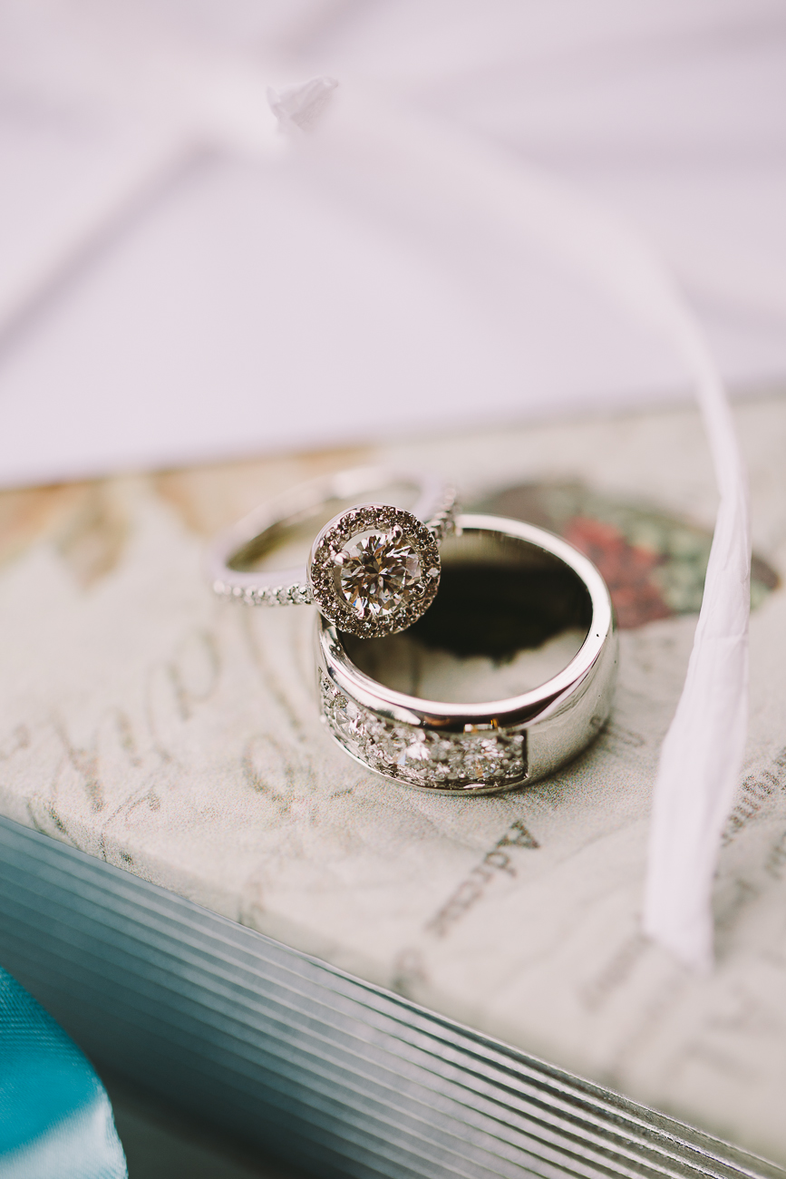 A close up of two beautiful diamond rings - Sahara Coleman - Professional Wedding Photographer, 2014 Seattle Washington