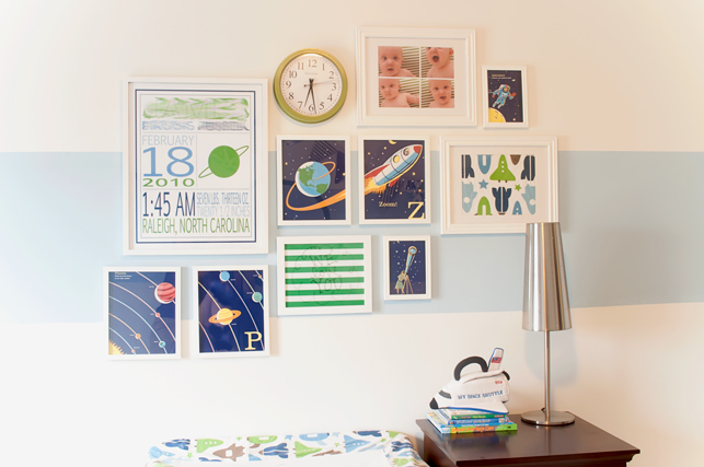 space-nursery-gallery-wall