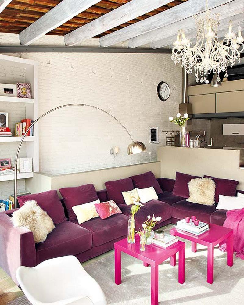 violet living room
