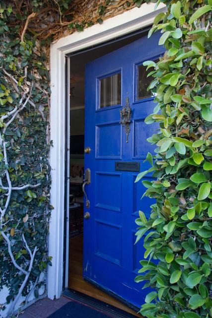 monaco blue front door
