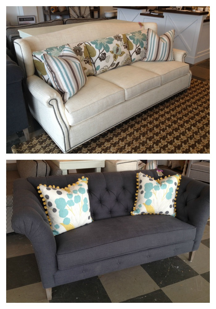 Top: Barrington Sofa // Reg. $2268 //  SALE: $1699    Bottom: Bridgeport Condo Sofa // Reg. $2362 //  SALE: $1772