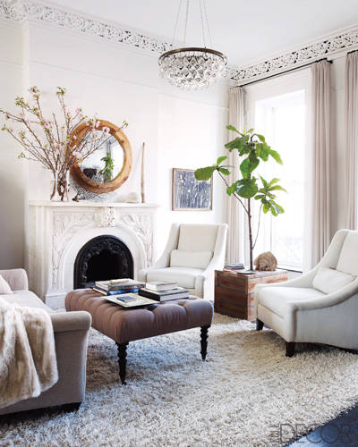 Keri Russell's home via Elle Decor