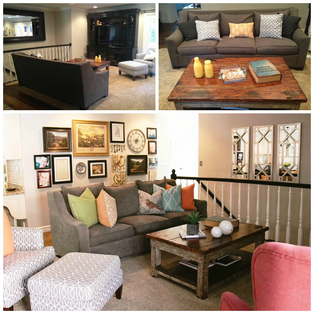 Rearranging Furniture Before And After Above: Family room BEFORE. Below: Family room AFTER. The existing furniture  was