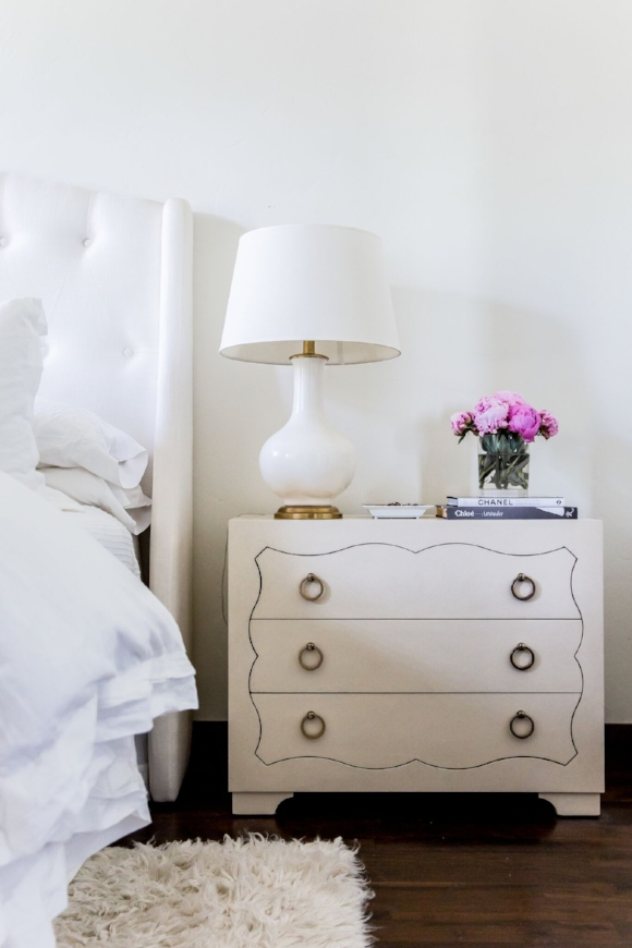 This nightstand has extra storage for organization...and ample style too.