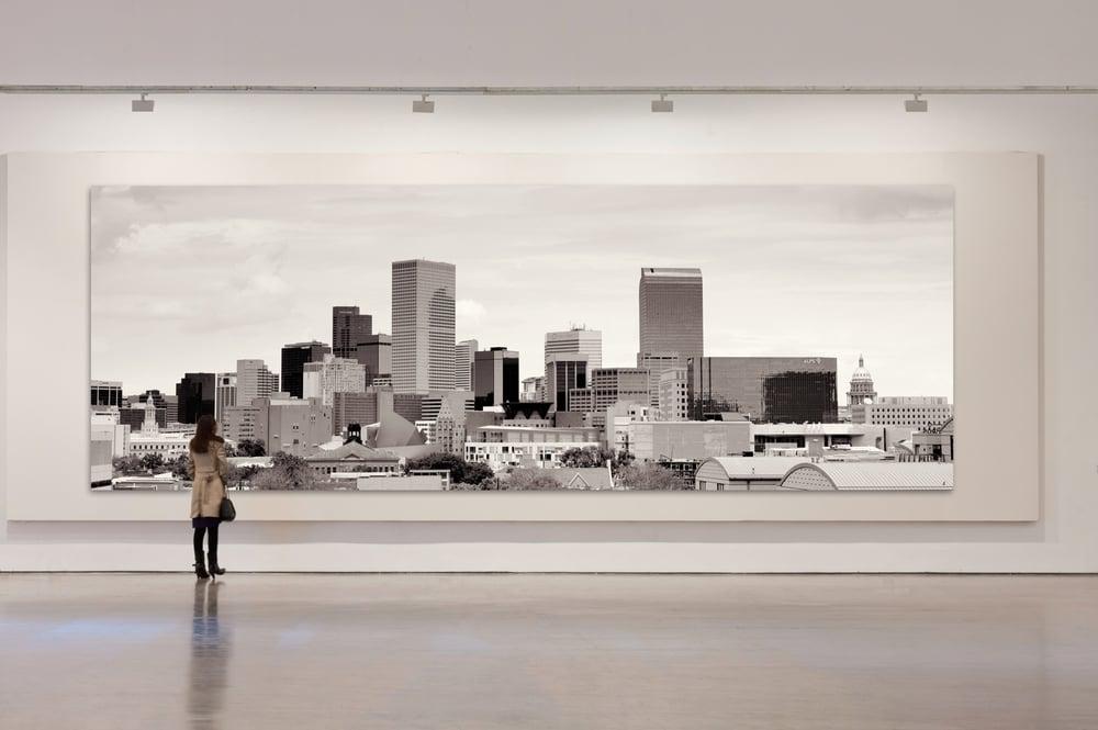 Large Format Denver Skyline Panorama Print © 2015 JC Buck