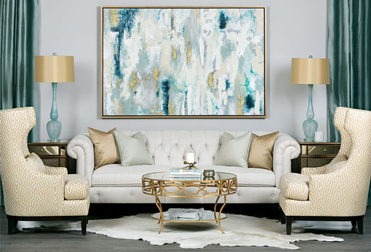 Sea Glass Inspired Living Room Hellolovelyliving Com 2