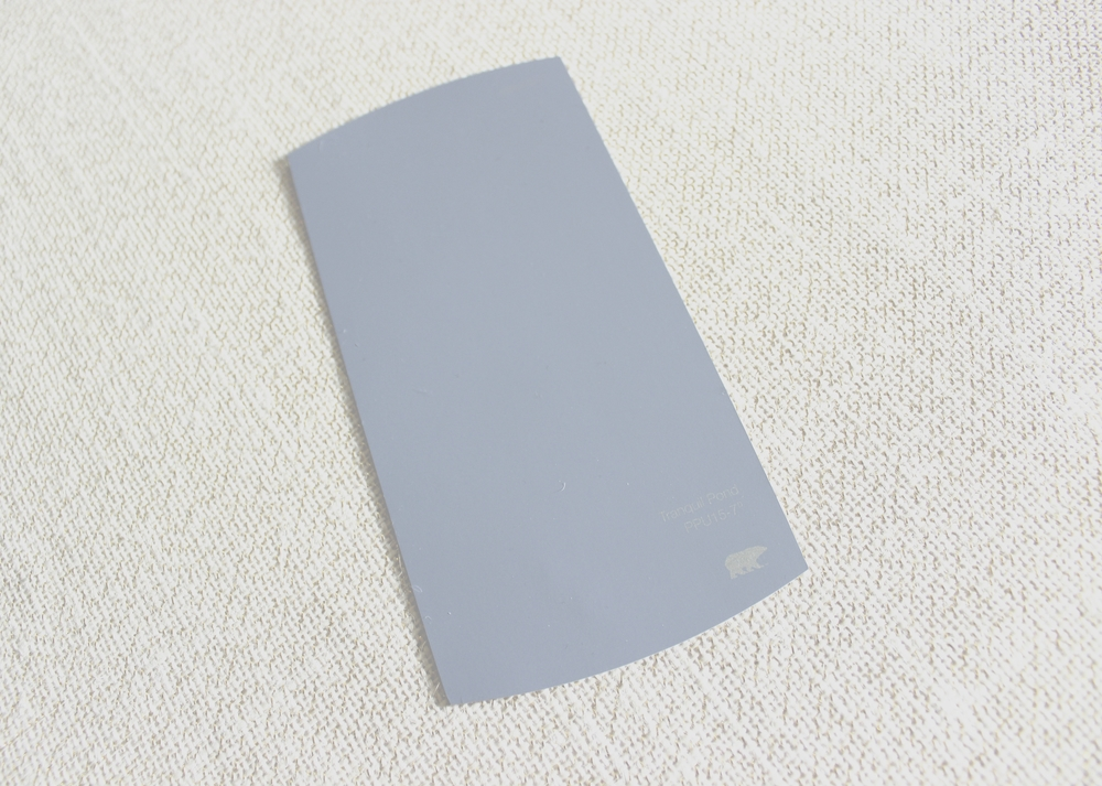 "Original Size of Behr paint swatch is 3.25"" w x 6.5"" h"
