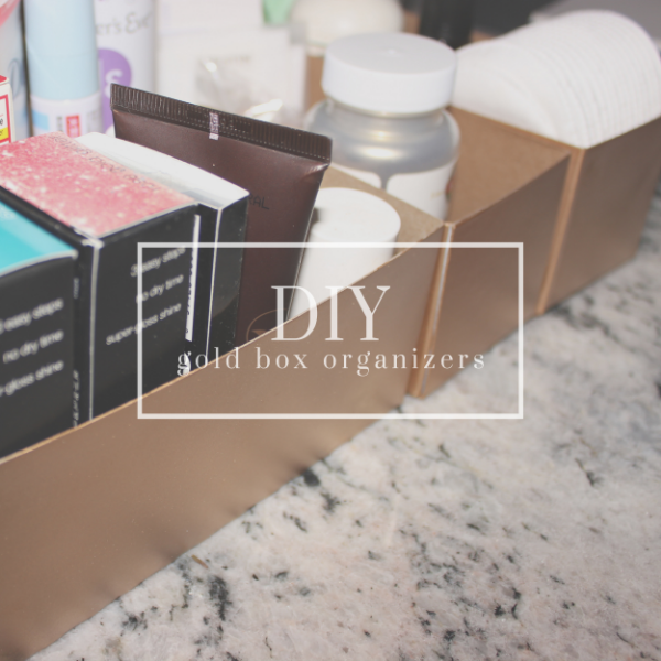 DIY Gold Box Organizers