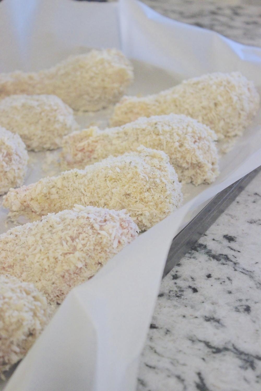 Panko Crusted Parmesan Drumsticks