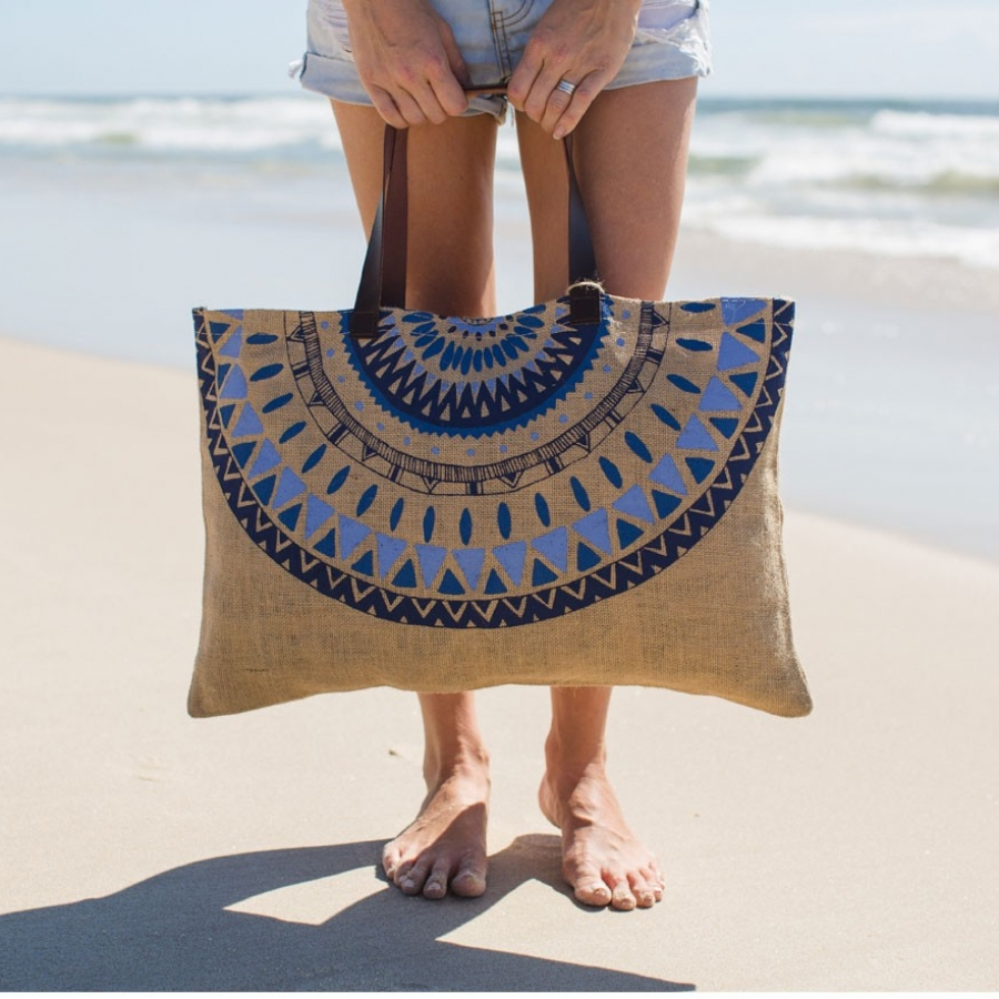 JUTE MAJORELLE BAG - the beach people
