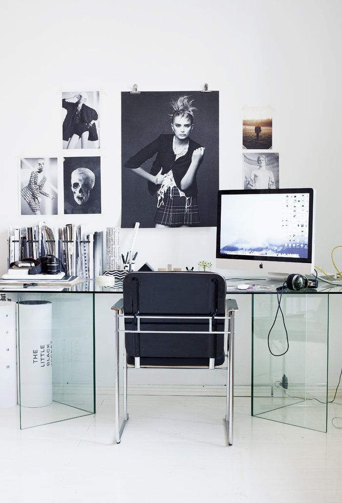 Small Home Office Design Ideas   Glass Desk
