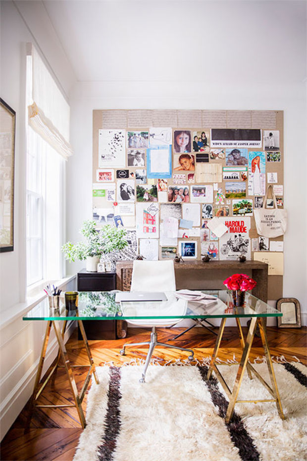 Small Home Office Design Ideas - Glass Desk