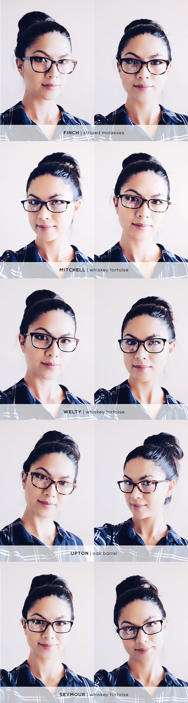 Warby Parker Home Try-On - Finch, Mitchell, Welty, Upton, Seymour | HelloLovelyLiving.com