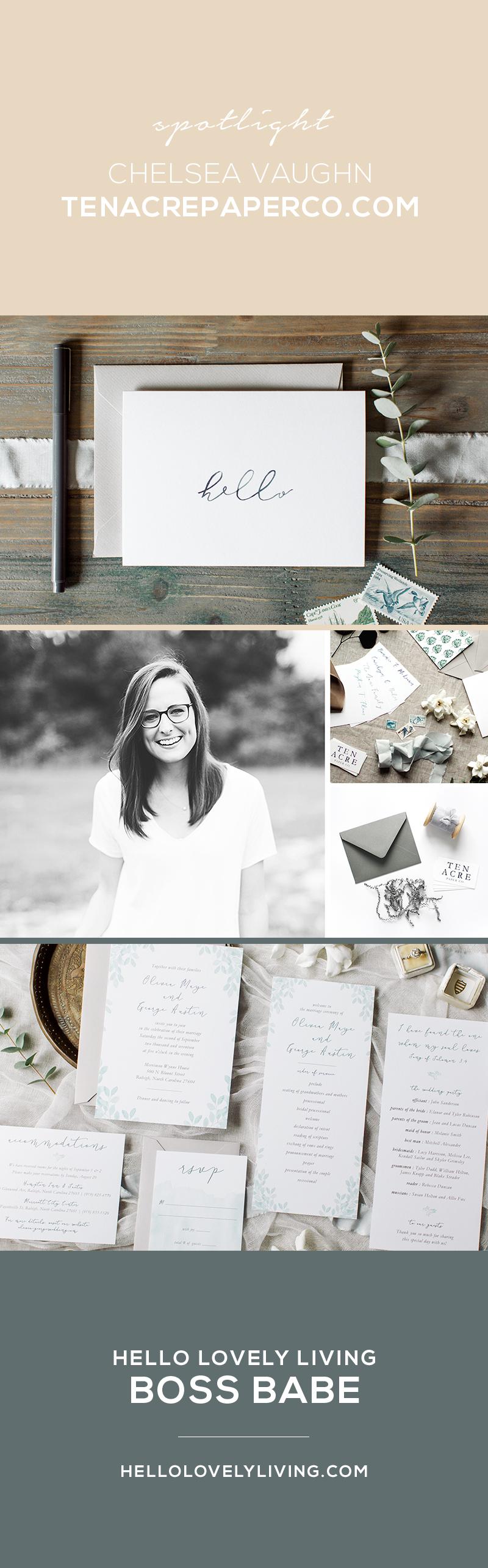HelloLovelyLiving.com | Wallpaper Wednesdays 32 | Artist Feature - Chelsea Vaughn