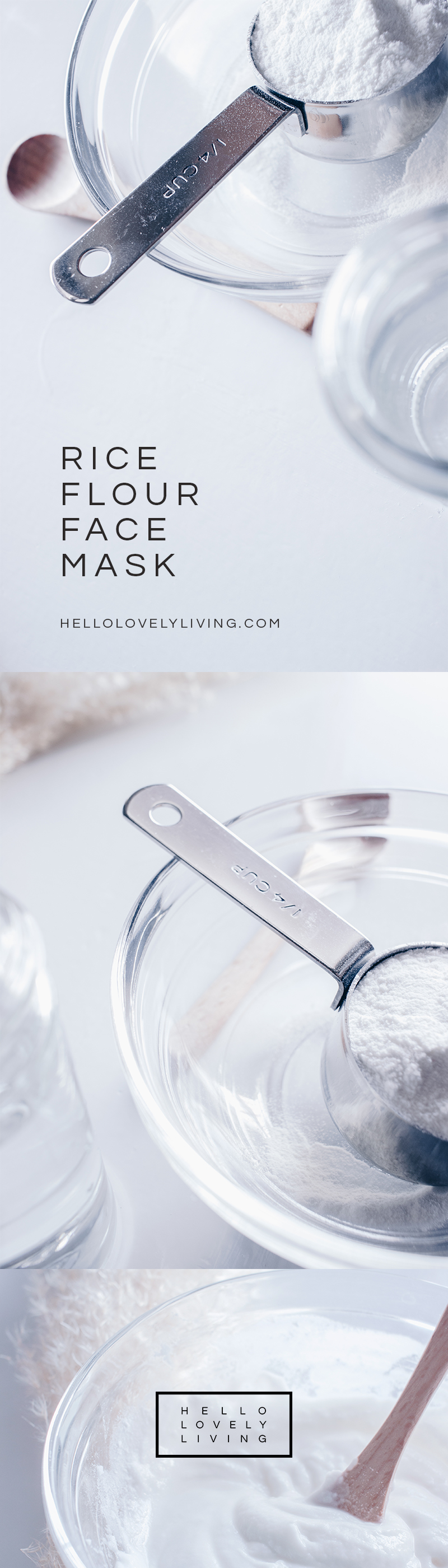 HelloLovelyLiving.com | DIY Rice Flour Face Mask - The Secret To Brighter Skin