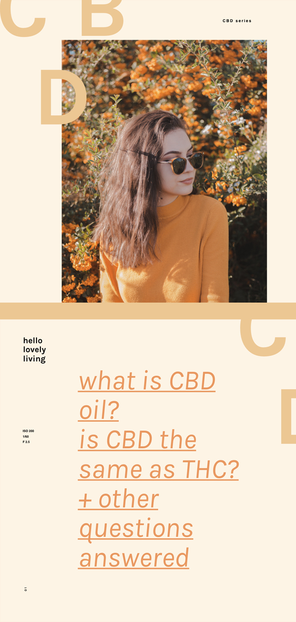 hellolovelyliving.com | CBD Series Part 1 | What is CBD oil? Is CBD the same as THC? + Other Questions Answered