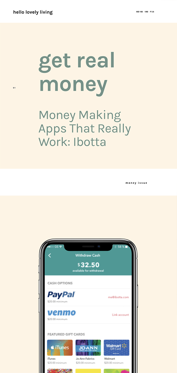 hellolovelyliving.com | Get Real Money | Money Making Apps That Really Work: Ibotta