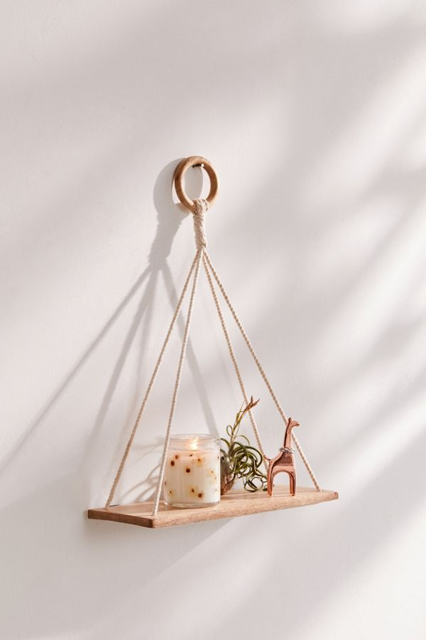 hellolovelyliving.com | DIY Urban Outfitters Hanging Wood Shelves | Daiso Hack!