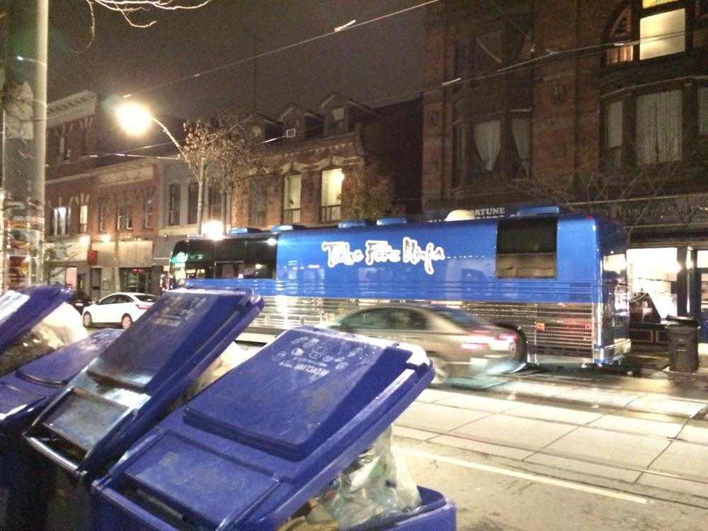 Twelve Foot Ninja's tour bus