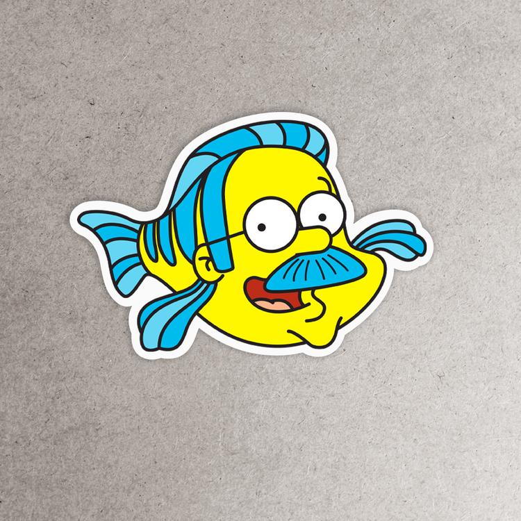Ned flounders sticker