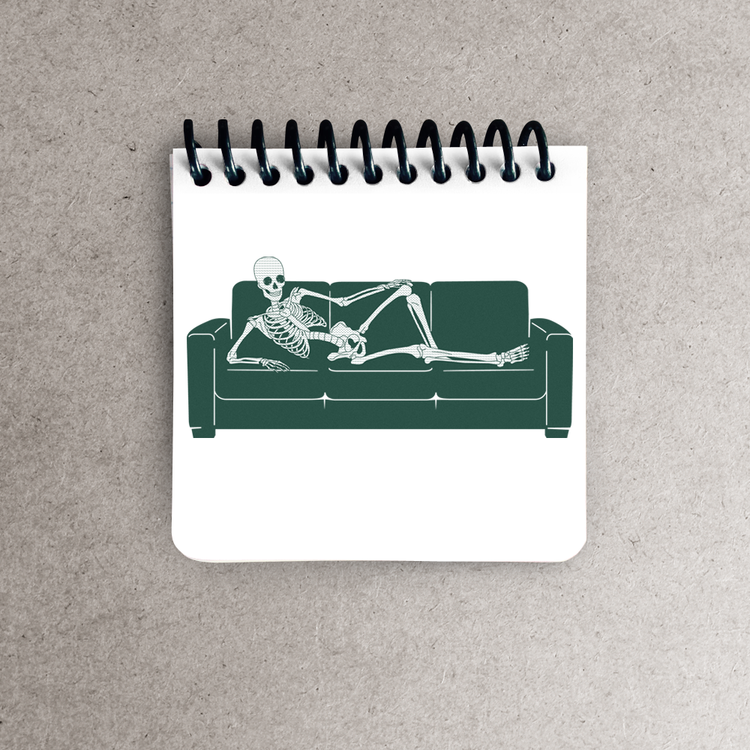 Bored to death notepad